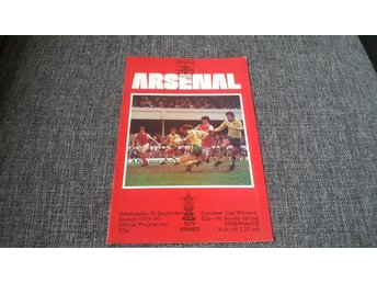 Program Arsenal v Fenerbahce Cupvinnarcupen 1980