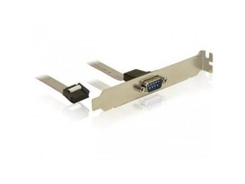 Delock COM port bracket, 1 x Serial, 0,27m cable
