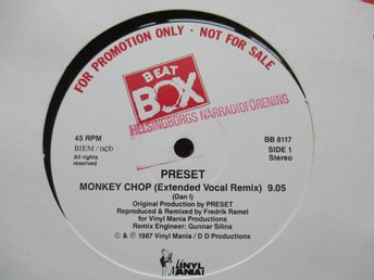 "Beat Box promo 12"" maxi: PRESET - MONKEY CHOP (Swedish Remix)"