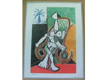 Javascript är inaktiverat. - Huddinge - Konstnär: Pablo Picasso (1881-1973) Titel: Femme nue dans le fauteuil a bascule - Nude woman in a rocking chair (Målades den 26 mars 1956 i Olja på canvas 195 x 130 cm. Finns nu på Art Gallery of New South Wales, Sydney sedan 1981). Medium: - Huddinge