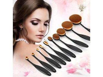 Sminkborstare MakeUp - 10Pack