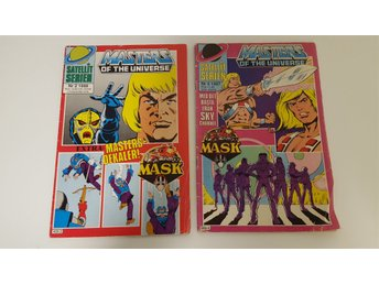 2 nummer Masters of the Universe, He Man / MASK, Satellit Serien