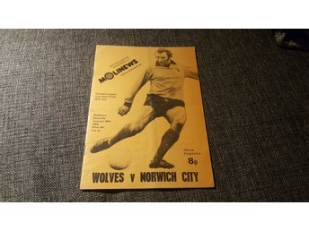 Program Wolverhampton v Norwich City semifinal ligacupen 1974