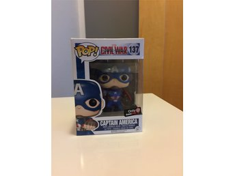 Funko Marvel Pop Captain America Civil War Gamestop Captain Bobble head figurer