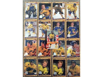 Sverige Hockeykort hockey bilder globe 1995 LOT