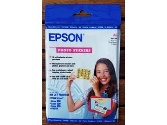 Epson Photo Stickers A6 5-pack (16 etiketter per ark) S041144 (NY INPLASTAD)