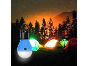 Hanging LED Camping Tent Light Bulb Blå Tält Lampa Outdoor Emergency Lamp