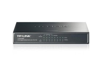 TP-Link 8-Port Gigabit Desktop PoE Switch with 4 PoE Ports, steel case