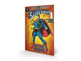 DC Comics Wooden Wall Art Superman - Kryptonite 40 x 60 cm