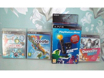 Playstation PS3 MOVE starpaket med kamera och  tre spel
