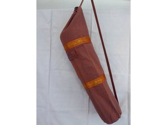Hand Made Light Maroon Silk Yoga Mat Cover with pocket