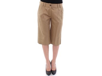 Dolce & Gabbana - Beige Solid Cotton Shorts Pants