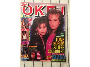 OKEJ nr 14 1987 m AHA - Ozzy - David Bowie & Whitney Houston posters!