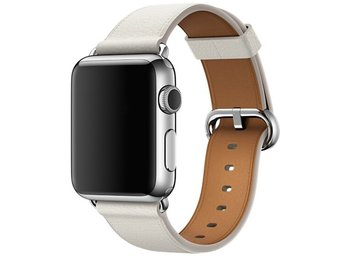 Classic Buckle 38/40mm Apple Watch Armband - (WHITE)