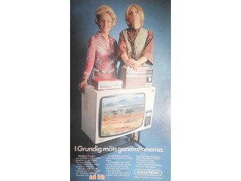GRUNDIG RADIO OCH FÄRG TV MÖTS GENERATIONERNA TIDNINGSANNONS Retro 1970 - öckerö - GRUNDIG RADIO OCH FÄRG TV MÖTS GENERATIONERNA TIDNINGSANNONS Retro 1970 - öckerö