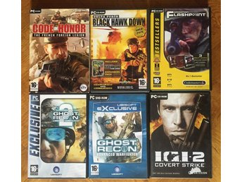 PC-SPEL 6st diverse FPS bl a Ghost Recon, Flashpoint m fl