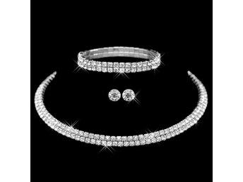 Set - Halsband, Armband och Örhängen - Strass och Kristall - Nasugbu - Set - Halsband, Armband och Örhängen - Strass och Kristall - Nasugbu