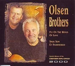 "Eurovision 2000 Denmark Olsen Brothers ""Fly on the wings of love"" CD-single"