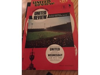 FOTBOLL Program Manchester United v Sheffield Wednesday 20/1 1968 Old Trafford