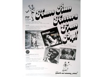 PIP RECORDS - JIMMY MCGRIFF, BUDDY RICH Mfl, TIDNINGSANNONS 1976