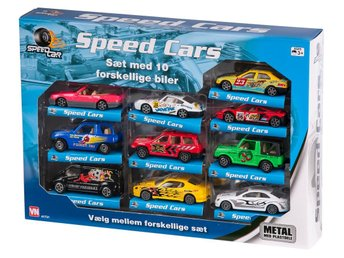 VN Lek - 10-pack Bilar Cars Fordon Set - Street & Race