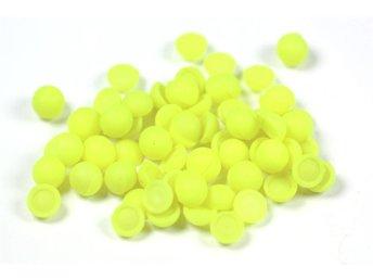 400 Halvpärlor, 6 mm, neongul, cabochons. - örebro - 400 Halvpärlor, 6 mm, neongul, cabochons. - örebro