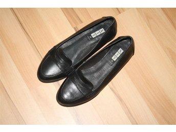 Skor, ballerinaskor, loafers, svarta, äkta skinn, läder, din sko - Lund - Skor, ballerinaskor, loafers, svarta, äkta skinn, läder, din sko - Lund