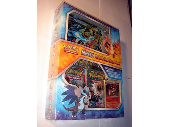MEGA CHARIZARD COLLECTION BOX 3pkt 1RARE HOLO 1 MEGA EX XXL