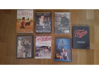 7 st DVD filmer  Fame + Flashdance +walke the line +jonny cash + the pianist