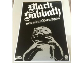 BLACK SABBATH BORN AGAIN UK 1983 GLOSSY PHOTO POSTER