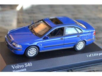 Volvo S40 1:43 Minichamps Blå Metallic (Begränsad Upplaga) Himmelsblå Ny - Vännäs - Volvo S40 1:43 Minichamps Blå Metallic (Begränsad Upplaga) Himmelsblå Ny - Vännäs