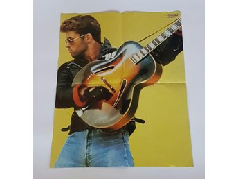Magnus Uggla / George Michael 1986 doublesided poster
