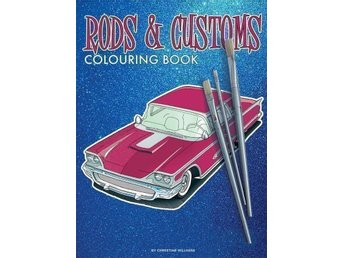 "Målarbok ""Rods & Customs colouring book"""