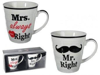 Mr & Mrs Right Mugg 2-pack - örebro - Mr & Mrs Right Mugg 2-pack - örebro