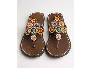 Nyskick skinn sandaler ASPIGA 37 pärlor hippie bohem festival - Strängnäs - Nyskick skinn sandaler ASPIGA 37 pärlor hippie bohem festival - Strängnäs