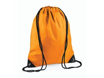 Gymsack, klassisk gympapåse, orange
