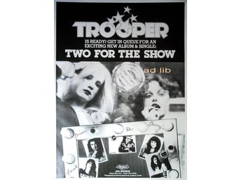 TROOPER (CANADA) - TWO FOR THE SHOW, TIDNINGSANNONS 1976