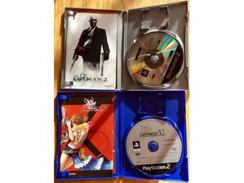 "PS2 spel Hitman 2 silent assassin + ""Köp Nu"" bonus Final Fantasy X2"