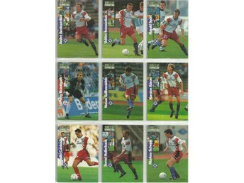 9 st  BUNDESLIGA COLLECTION 1997 SAMLARKORT - LOT NR 2