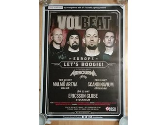Volbeat poster plansch affisch Europe 2016  Airbourne Crobot - Lets Boogie