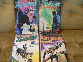 4 st äldre serietidningar Fantomen Barracuda 70-tal - 90-tal - Uppsala - 4 st äldre serietidningar Fantomen Barracuda 70-tal - 90-tal - Uppsala