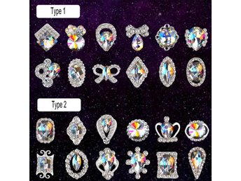 Gorgeous Acrylic Glitter 3D Nail Art Decoration+Wheel White Multicolor