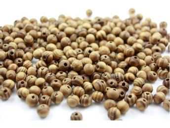 100st läckert randiga pärlor av trä, 8 mm, Naturfärgade. - örebro - 100st läckert randiga pärlor av trä, 8 mm, Naturfärgade. - örebro