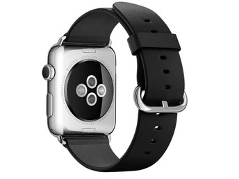 Classic Buckle 42mm Apple Watch Armband - (BLACK) - Ljungby - Classic Buckle 42mm Apple Watch Armband - (BLACK) - Ljungby