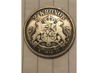 Oscar II 2 kr 1878 - Kungälv - Oscar II 2 kr 1878 - Kungälv