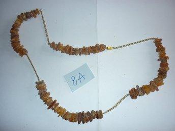 halsband av äkta råa bärnsten från Polen - 57cm 19g ( 8A) - Flen - halsband av äkta råa bärnsten från Polen - 57cm 19g ( 8A) - Flen