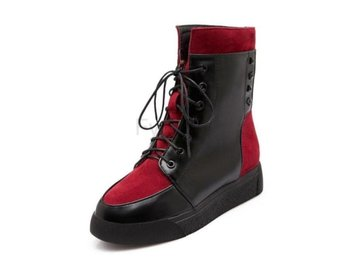 Dam Boots Short Botas Warm Long Boot Women Footwear Red 34