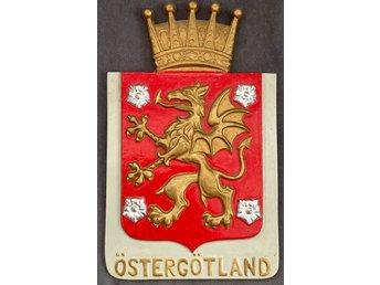 Ostergotland Landskapsvapen Vapenskold Metall 411190787 ᐈ Kop Pa Tradera