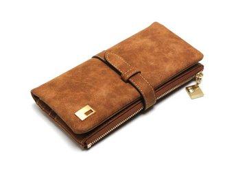 Women Coffee Leather Clutch Wallet Long Handbag Bag Purse Card Holder - Govindapuram - Women Coffee Leather Clutch Wallet Long Handbag Bag Purse Card Holder - Govindapuram