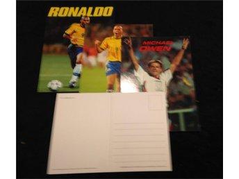 Ronaldo, Michael Owen - Vykort 3st Samlarobjekt - Tibro - Ronaldo, Michael Owen - Vykort 3st Samlarobjekt - Tibro